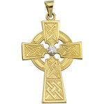 Diamond Celtic Cross Pendant